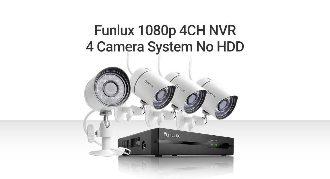Funlux 1080P 4Ch NVR 4 1 0MP Home Security Camera