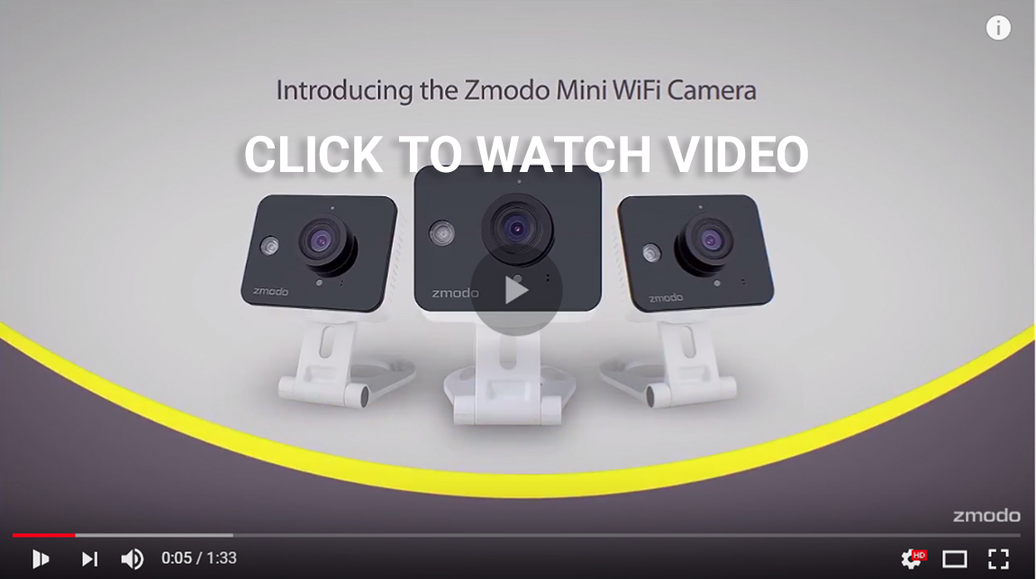 Zmodo 2 Pack Mini HD Wireless Indoor Security Camera Night ...