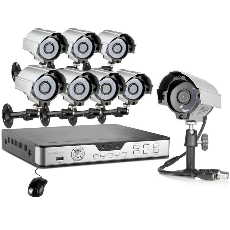 Zmodo 8CH H.264 DVR 600TVL Complete Security Camera System with 8 Night Vision Weatherproof Surveillance Cameras with 1TB Hard Drive at Sears.com