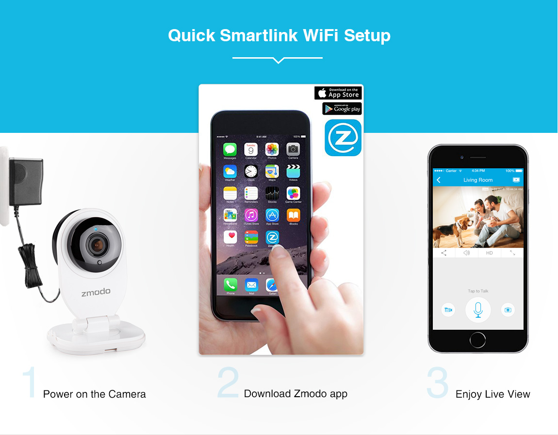 Details about Zmodo™ 720P HD Wireless IP Network Indoor IR Home Security  Camera Two-Way Audio