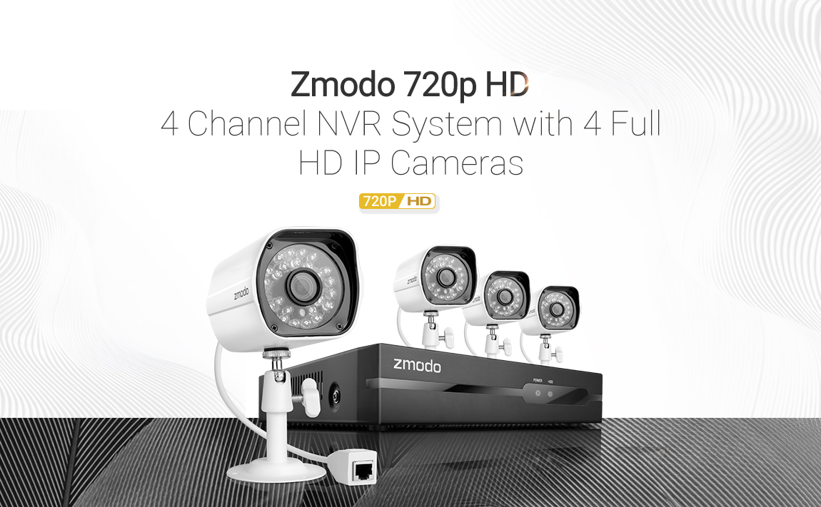 Zmodo 1080p 4ch Nvr 4 1 0mp Hd Ip Network Poe Video Home