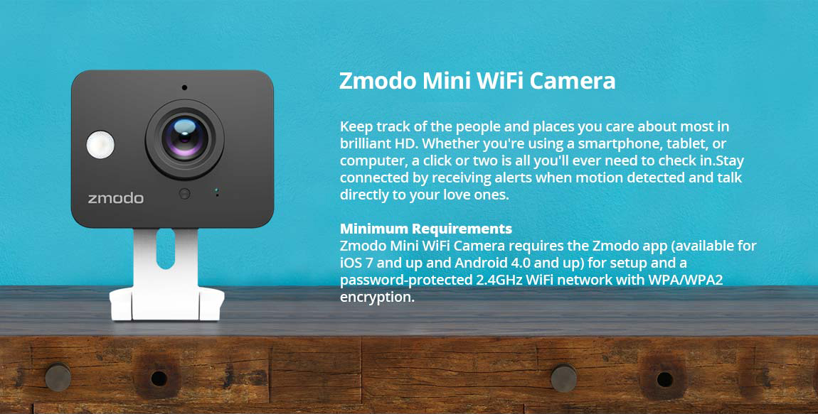 Zmodo 720p HD Mini Wi-Fi Wireless Standard Surveillance IP